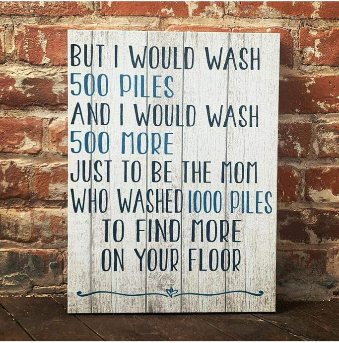 1000 Piles Of Laundry, Funny Laundry Room Sign, Custom Canvas, Cute Gift Idea