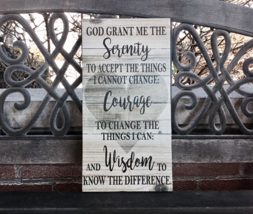 Serenity Prayer Custom CANVAS, Personalized Scripture Decor