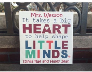 Little Minds Custom CANVAS, Personalized Classroom Decor