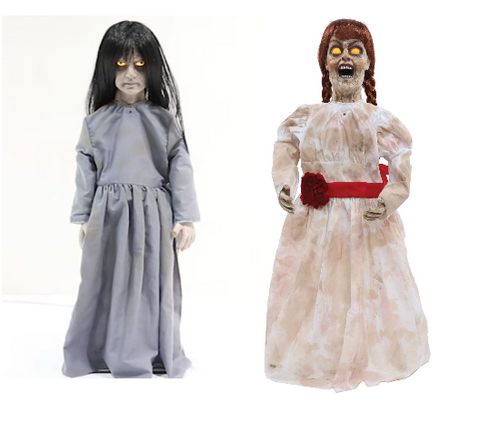 2 Pc Haunted Dolls - Animated - Willow Manor Shop