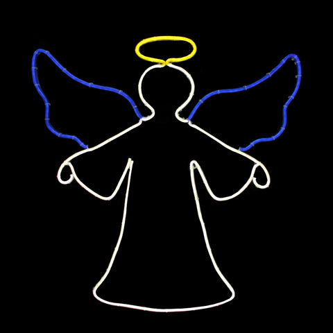 "20"" Neon Style LED Lighted Angel - Willow Manor Shop"