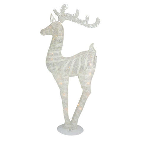 "36"" Glittered LED Reindeer - Battery Operated"