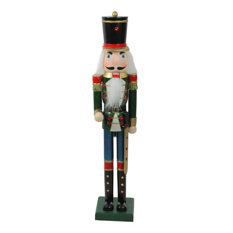 3 Ft Wooden Nutcracker Soldier with Sword - Willow Manor Shop