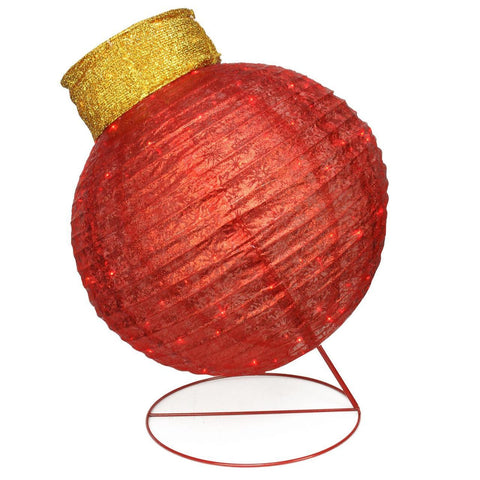 3 Ft Twinkling Lighted Ornament - Red - Willow Manor Shop
