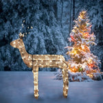 "48"" Standing Reindeer Buck Lighted - Animated - Willow Manor Shop"