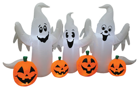 Ghosts & Pumpkins - Inflatable - Willow Manor Shop