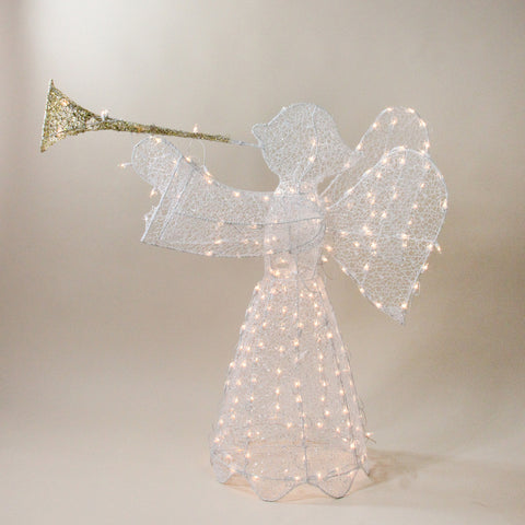 "44"" 3-D Trumpeting Angel - Lighted"