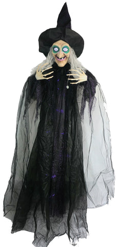 "72"" Hanging Witch - Animated - Willow Manor Shop"