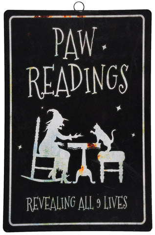 "17"" Paw Readings - Metal Sign - Willow Manor Shop"
