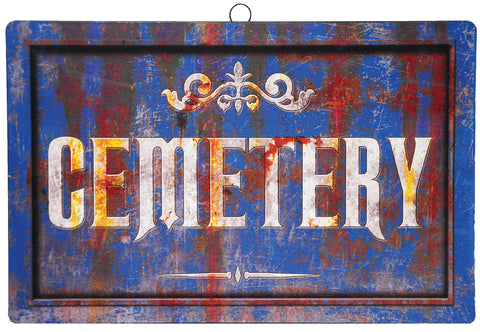 "17"" Cemetery - Metal Sign - Willow Manor Shop"