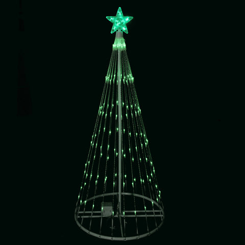 4' Green LED Lighted Show Cone Outdoor Tree