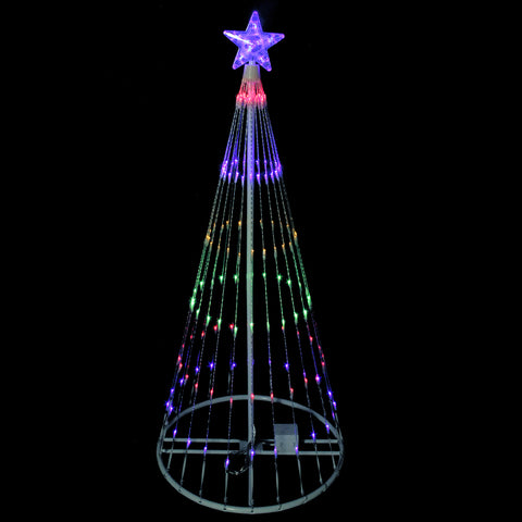 4' LED Lighted Show Cone Outdoor Tree - Multi-Color