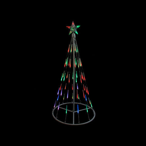 4' LED Lighted Bubble Show Cone Tree - Multi Color - Willow Manor Shop