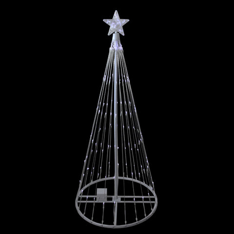 4' Pure White LED Lighted Show Cone Outdoor Tree - Willow Manor Shop