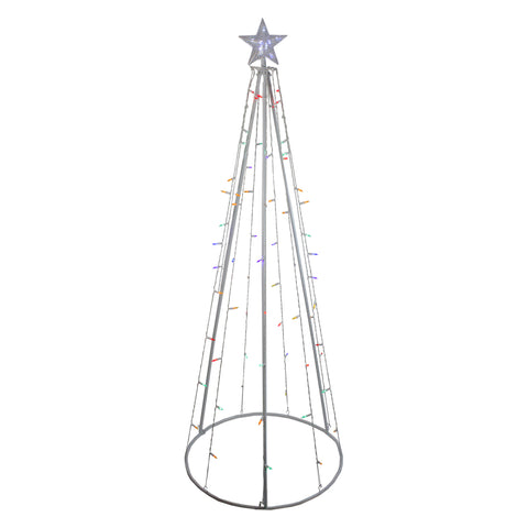 6' LED Cone Outdoor Tree - Multi Color