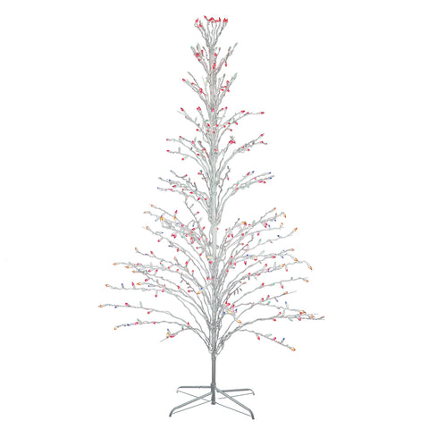 9 Ft Cascade Twig Tree - Multi Color Lights - Willow Manor Shop