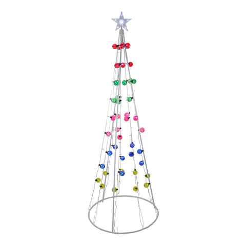 6' LED Show Cone Tree -  Multi-Color Lights - Willow Manor Shop
