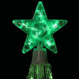 6' Green LED Lighted Show Cone Outdoor Animated Tree - Willow Manor Shop