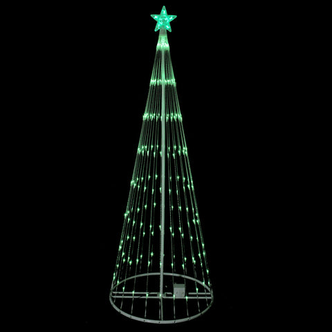 6' Green LED Lighted Show Cone Outdoor Animated Tree