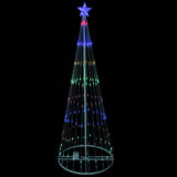 6' Multi Color LED Lighted Show Cone Outdoor Animated Tree