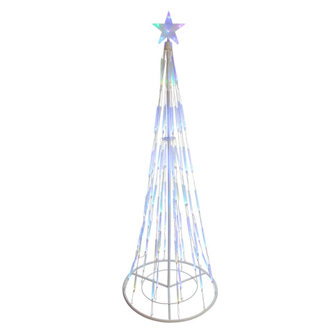 9' LED Lighted Bubble Show Cone Tree - Multi Color
