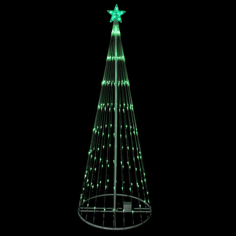 9' Green LED Show Cone Outdoor Tree