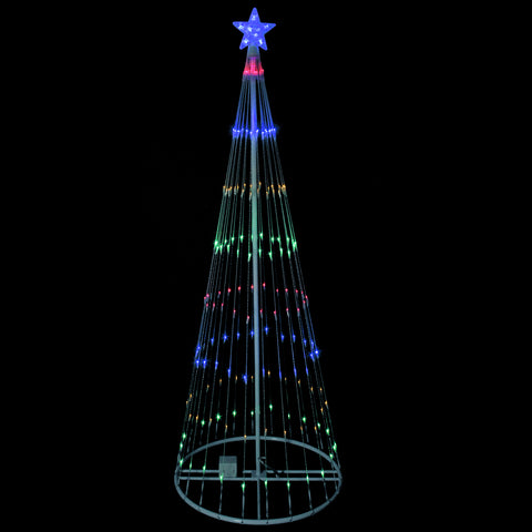 9' LED Show Cone Outdoor Tree - Multi Color - Willow Manor Shop