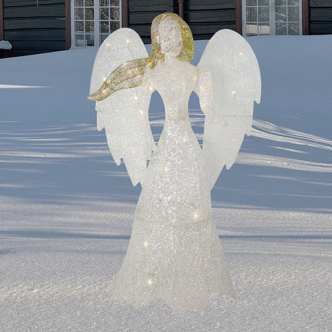 "48"" LED Glittered Angel - Lighted"