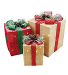 Set of 3 Gift Boxes - Lighted