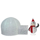 "45"" Penguin & Igloo - Lighted - Willow Manor Shop"