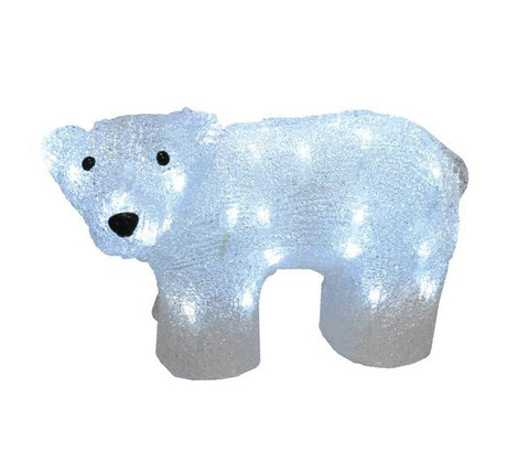 Acrylic Baby Polar Bear - Lighted - Willow Manor Shop