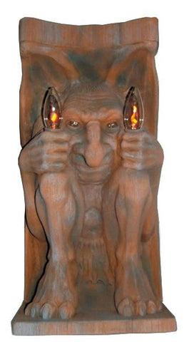 Gargoyle Wall Mount - Lighted - Willow Manor Shop