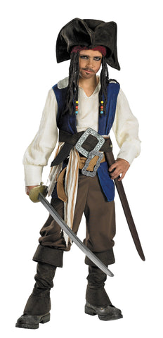 Deluxe Captain Pirate Jack Sparrow - Child 7-8