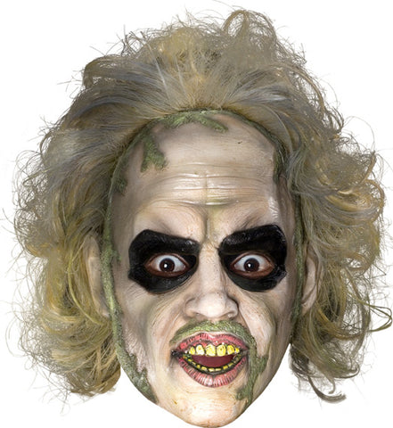 Beetlejuice 3-4 Mask with Hair - Willow Manor Shop