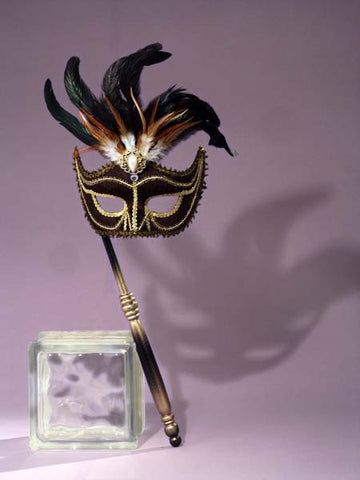Venetian Black Mask - Willow Manor Shop