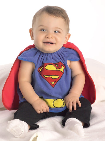 Superman Bib Costume - Infant - Willow Manor Shop