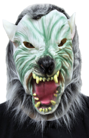 Silver Wolf with Hair Mask - Willow Manor Shop