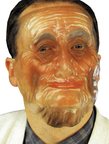 Plastic Old Male Translucent Mask - Willow Manor Shop