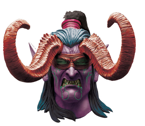 Warcraft Illidan Latex Mask - Willow Manor Shop