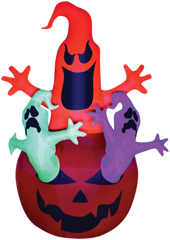7 Ft BlackLight Neon Ghosts - Inflatable - Willow Manor Shop