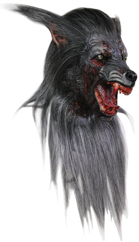 Black Wolf Latex Mask - Willow Manor Shop