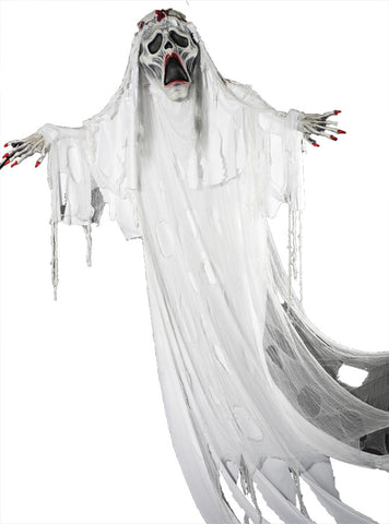 12 Ft Hanging Ghost Bride - Willow Manor Shop
