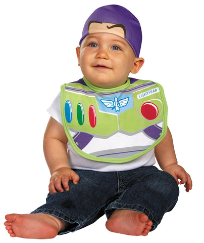 Buzz Bib with Hat - 0-6 Months