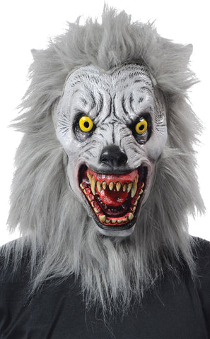 Realistic Albino Werewolf Mask - Willow Manor Shop