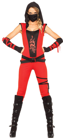 4 Pc Ninja Assassin - Red - Willow Manor Shop