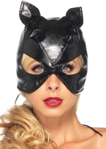 Cat Faux Leather Mask - Willow Manor Shop