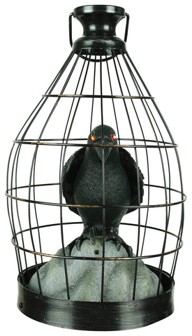 Crow In Cage - Animated - Willow Manor Shop