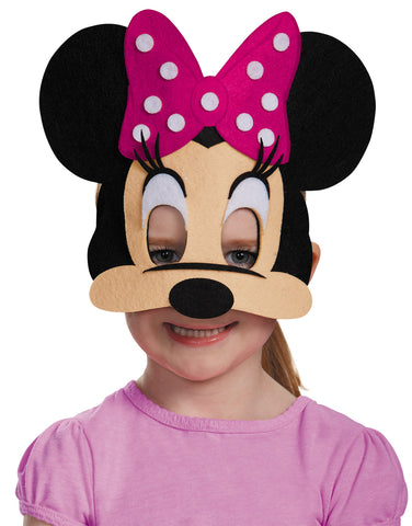 Minnie Mouse Pink Felt Mask - Willow Manor Shop