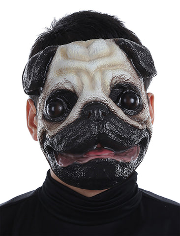 Pug Plastic Face Mask