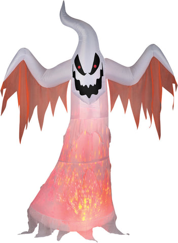 7 Ft Fire & Ice Projection Ghost - Inflatable - Willow Manor Shop